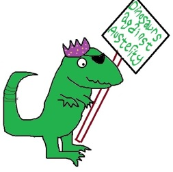 dino poster sign austerity