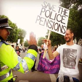 protest - police pensions