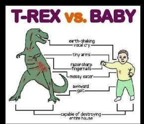 trex vs baby